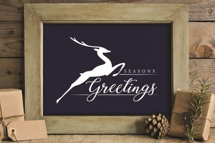Seasons Greetings, Reindeer, Christmas, PRINT, CUT, DESIGN