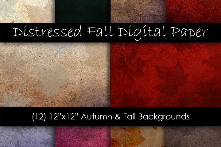 Distressed Fall Textures - Fall and Autumn Backgrounds