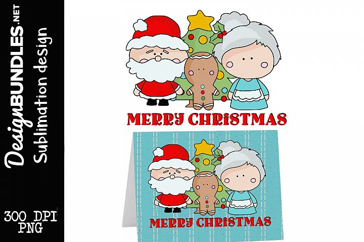 Merry Christmas-Sublimation Design