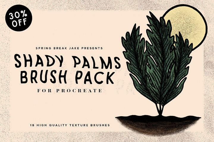 Shady Palms Tropical Procreate Brushes