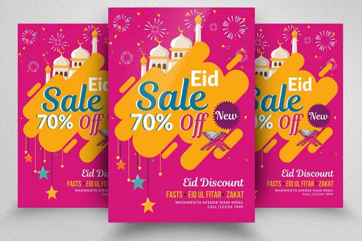 Eid Big Sale Offer Flyer