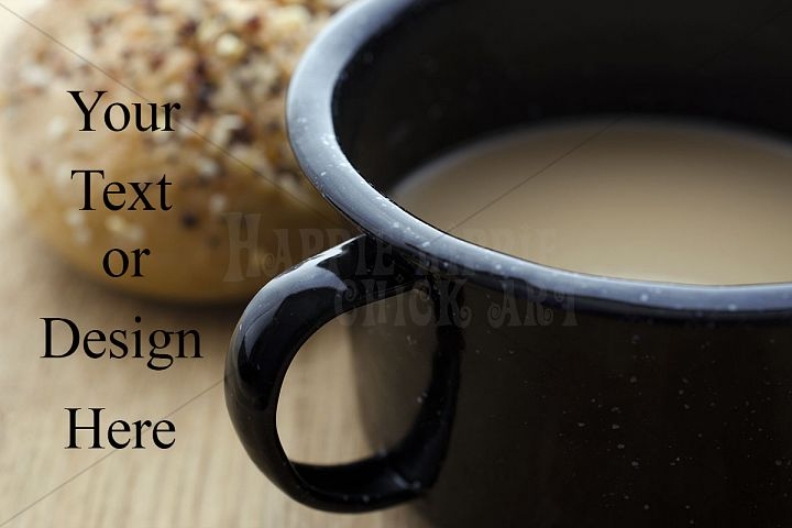 Coffee in a Tin Cup Photograph