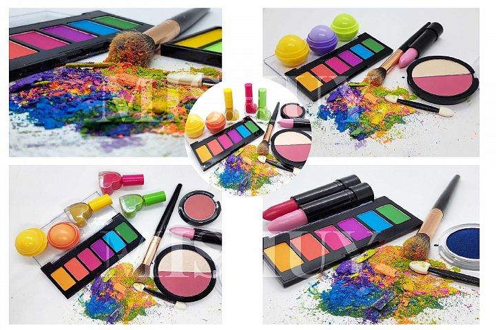 Makeup crushed powder and products
