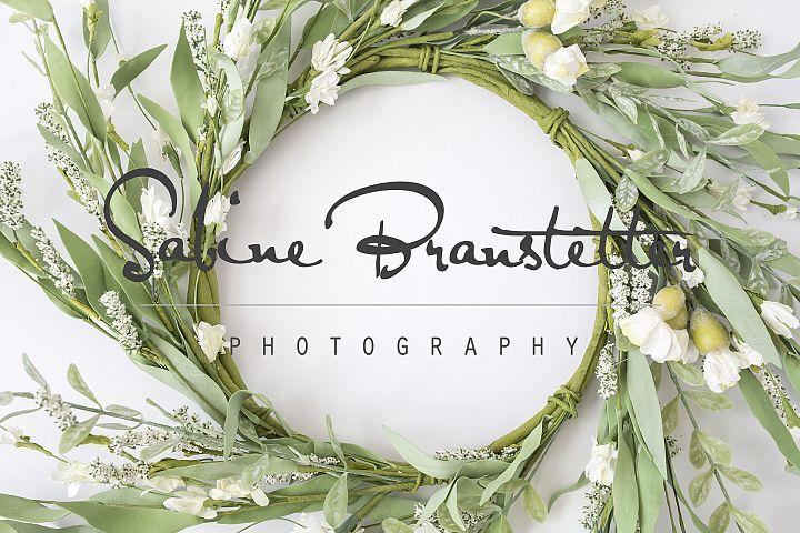 Styled Stock Photography Wedding Wreath Background Mockup