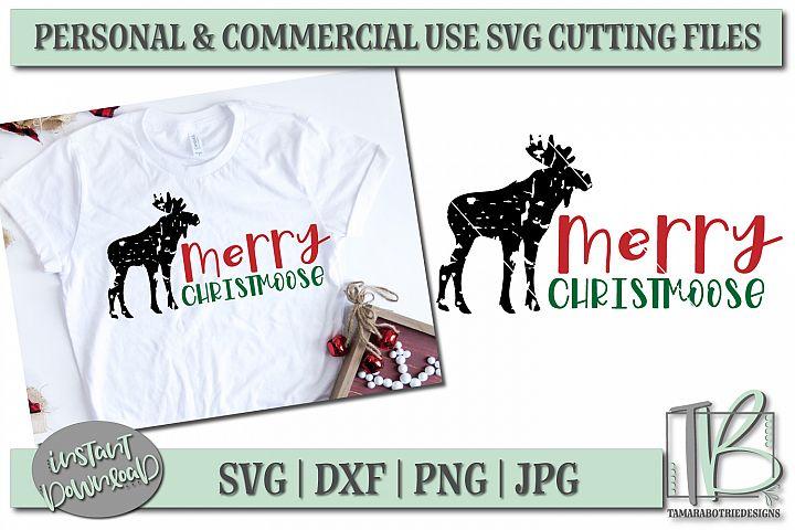 Grunge SVG Cut File, Merry Christmoose SVG, Christmas