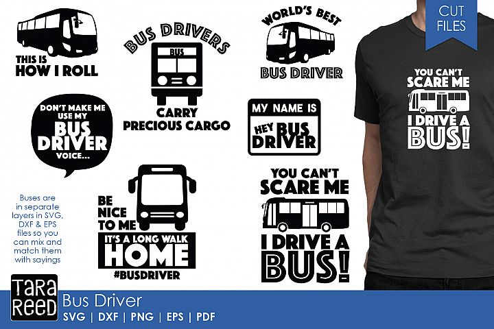 Bus Driver SVG and Cut Files for Crafters
