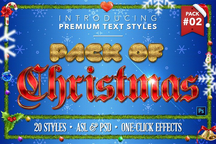 Christmas Pack #2 - 20 Text Styles