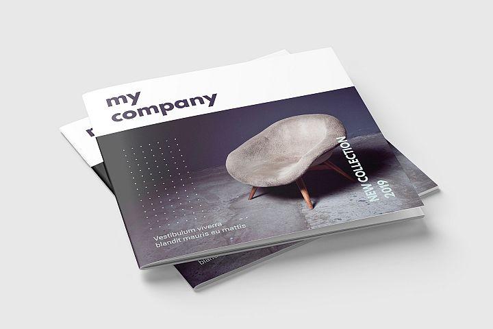 Square Magazine or Brochure Template