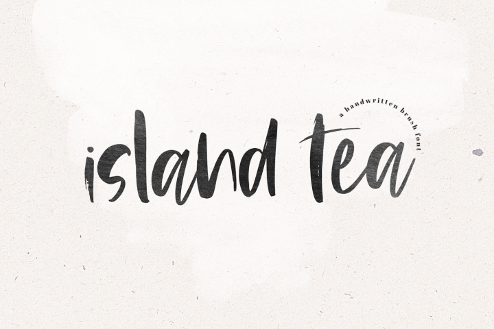 Island Tea - A Handwritten Brush Font