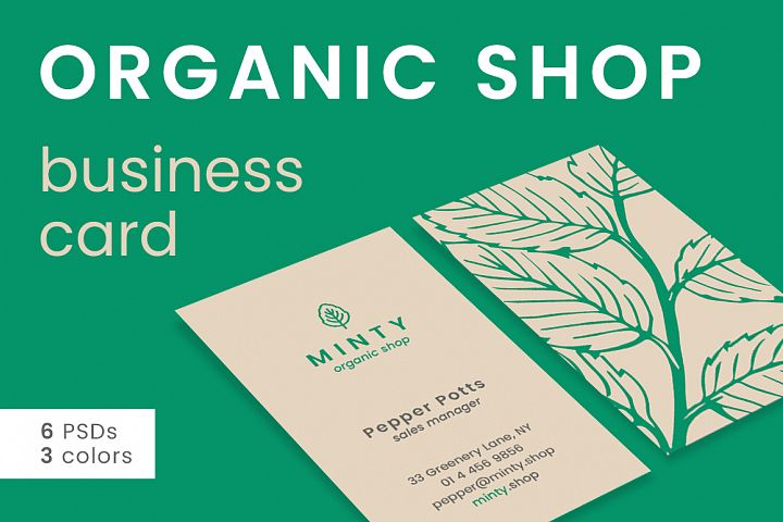 Organic Shop Business Card