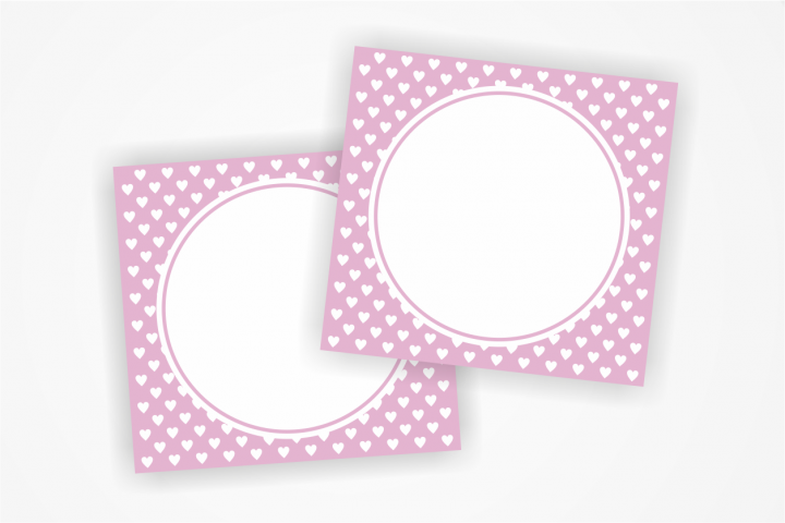 Printable PINK Tags with small hearts, Label,Heart Card, Heart Tags, Favor Tags, Blank Cards, Party Labels, Instant Download, Favours