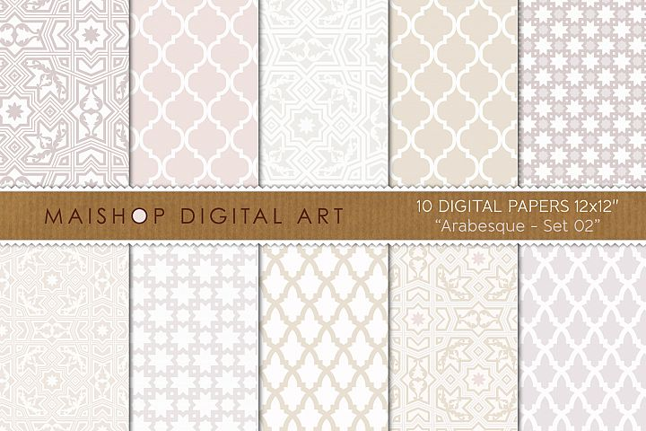 Digital Paper Pack Arabesque Set 02