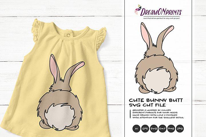 Bunny Butt SVG - Easter SVG Cut File, Rabbit SVG