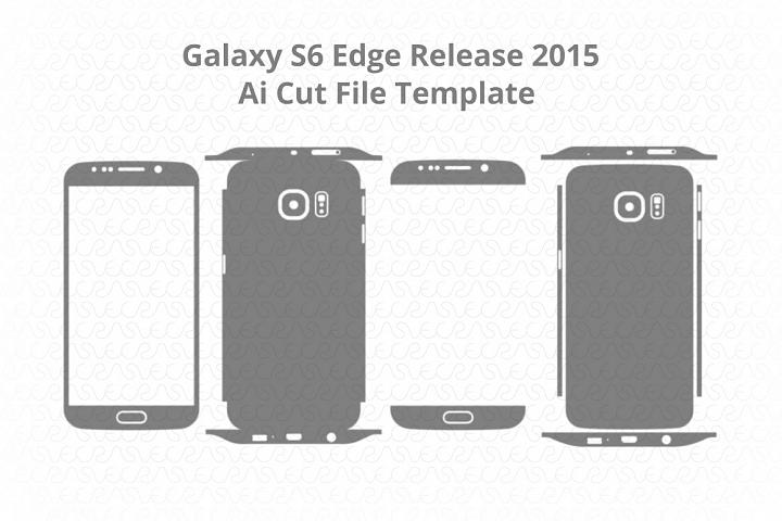 Samsung Galaxy S6 Edge Vinyl Skin Cut File Template 2015
