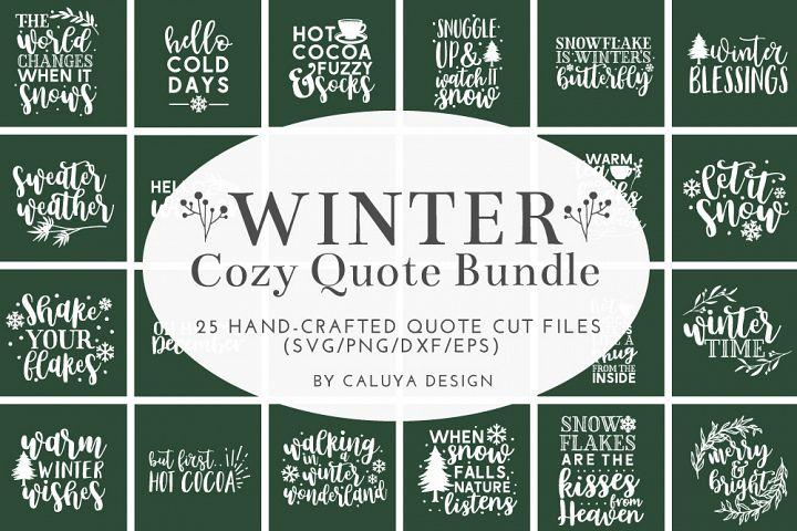 Winter Quote Cut File Bundle
