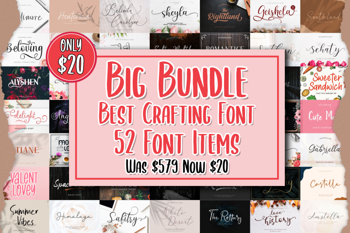 MEGA BUNDLE - BEST CRAFTING FONT COLLECTIONS