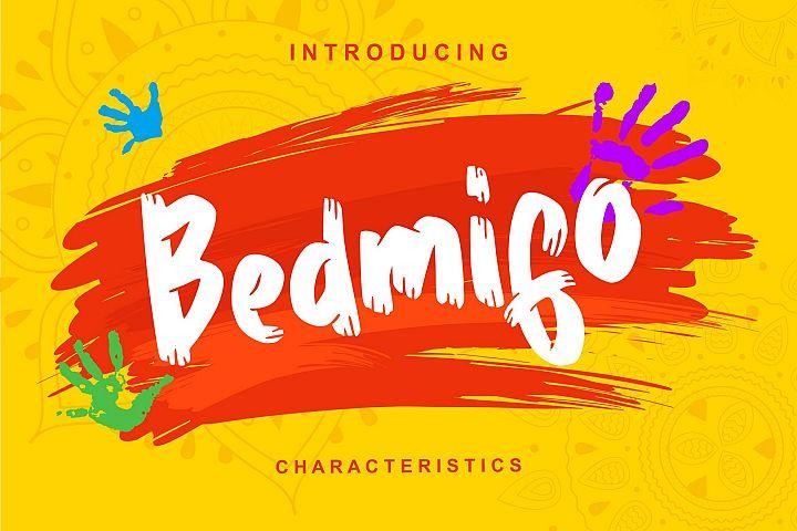 Bedmifo | Characteristics Script Font