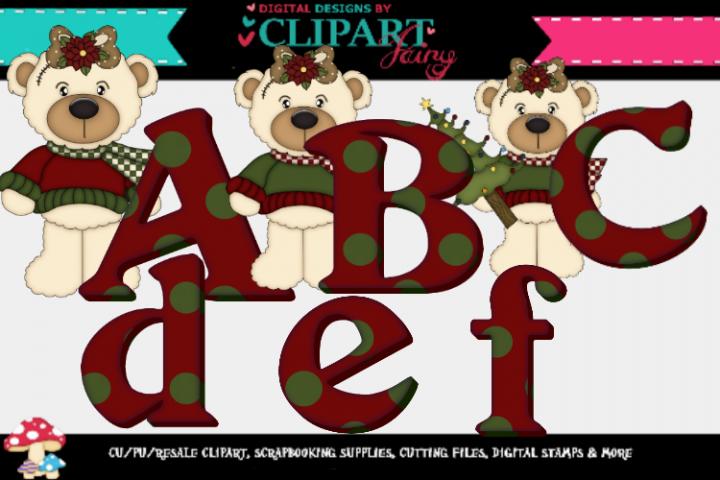 White Bear Girl Christmas Alpha example image 1