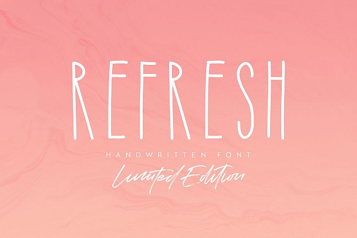 Refresh Font LIMITED EDITIONBonus