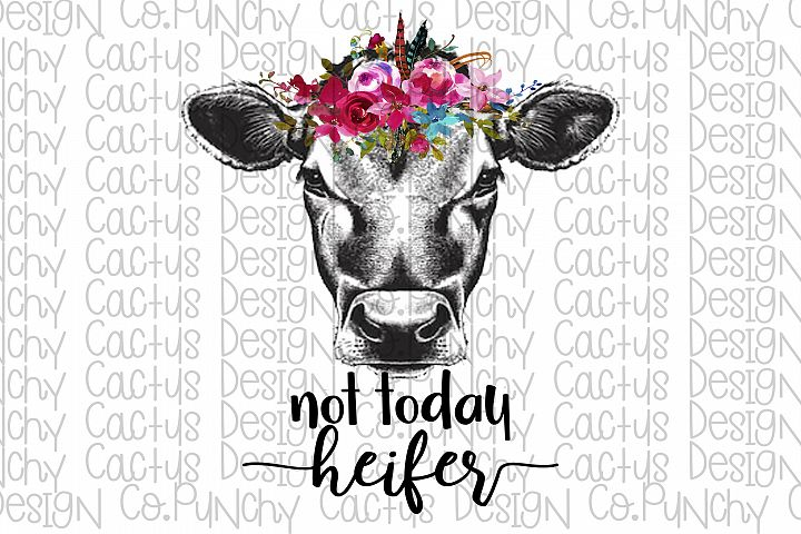 Not Today Heifer Sublimation Download