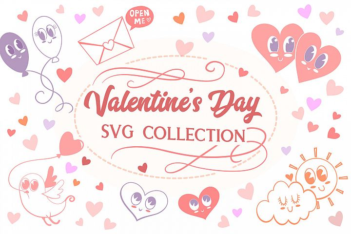 Valentines Day SVG Cut Collection- 9 items