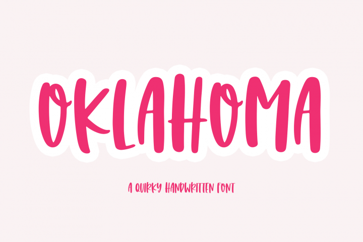 Oklahoma - A Fun Handwritten Font