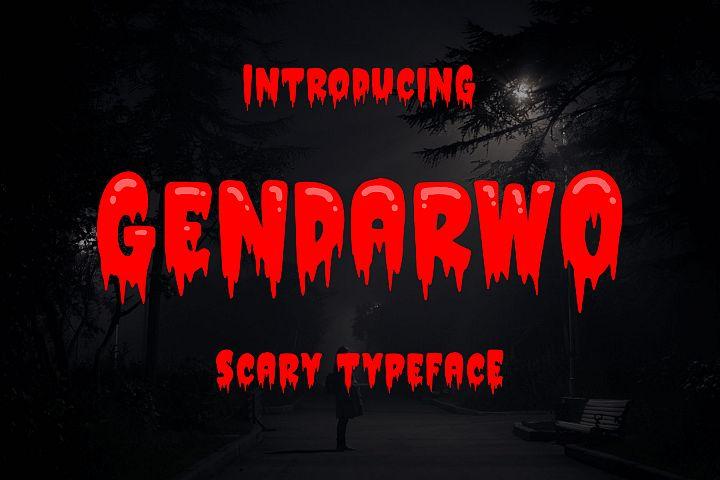 Gendarwo - Scary Typeface