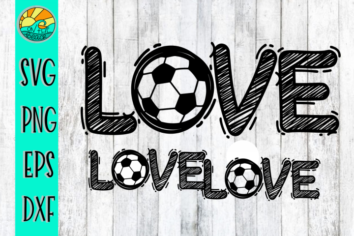 LOVE - Soccer - SVG - DXF - EPS - PNG