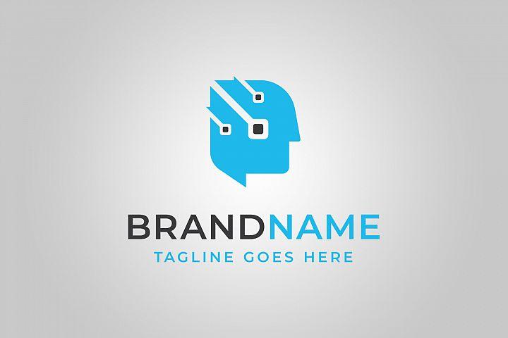 Technology Mind Logo Template