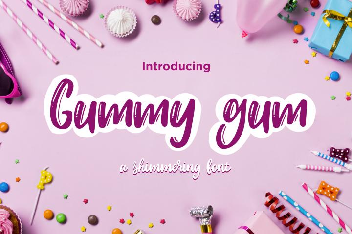 Gummy gum - script and cartoon font