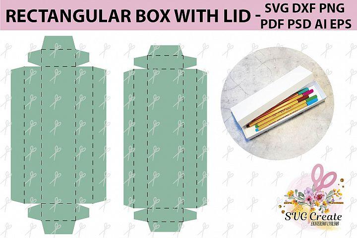 Box with lid template, box svg, pdf, favor box, box cut file