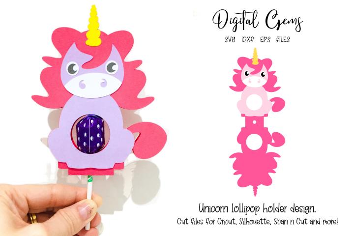 Unicorn lollipop holder design SVG / DXF / EPS files