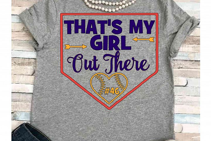Softball svg SVG DXF JPEG Silhouette Cameo Cricut Softball mom svg iron on Thats my girl out there svg