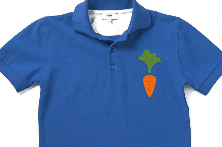 Mini Carrot Embroidery Design