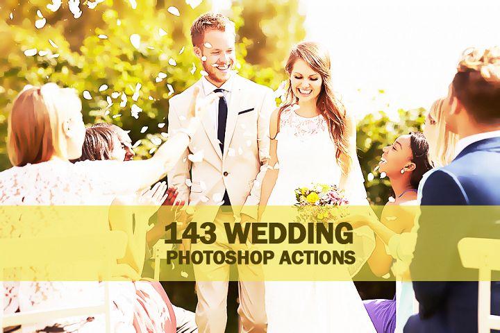 143 Wedding Photoshop Actions Collection (Action for photoshop CS5,CS6,CC)