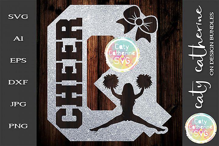 Letter Q Cheerleading Monogram Letters SVG Cut File