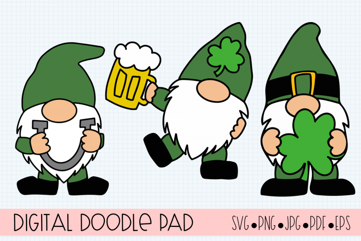 St. Patricks Day SVG, Leprechaun Gnomes Cut Files