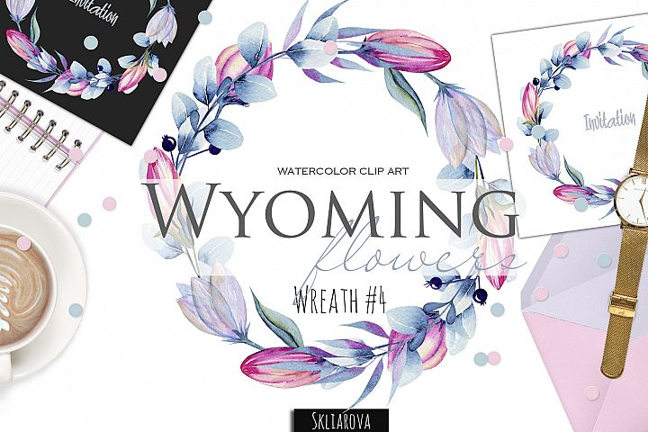 Wyoming flowers. Wreath #4