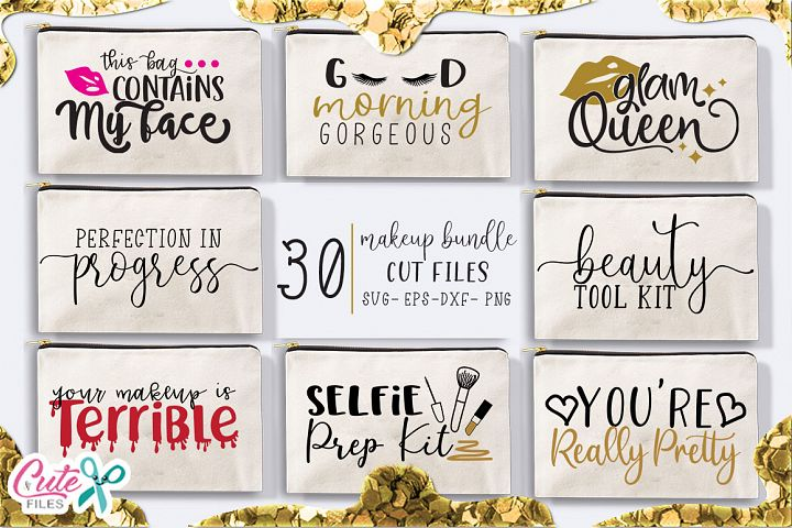 Makeup bundle svg for crafter