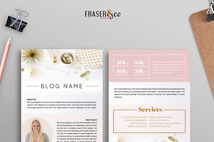 Peachy Resume Media Kit - 2 Page