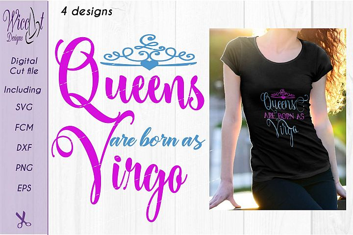 Zodiac quote svg, Queens quote svg, born as Virgo sign