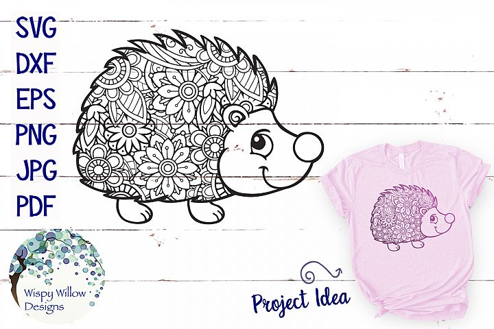 Hedgehog Zentangle SVG - Free Design of The Week