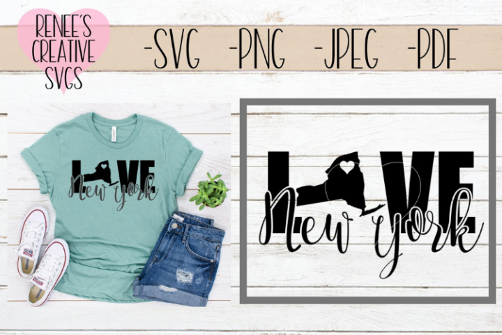 New York Love | State SVG | SVG Cutting file
