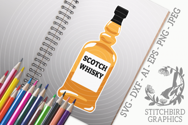 Scotch Whisky SVG, Silhouette Studio, Cricut, Eps, Dxf, AI