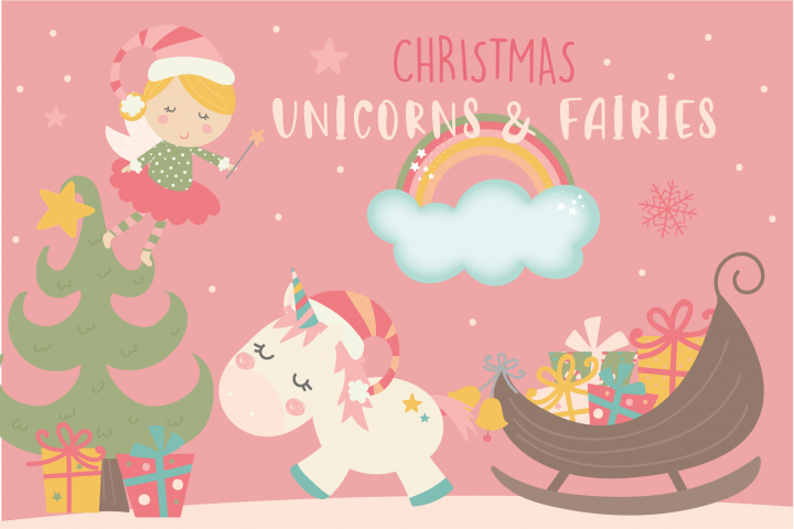 Christmas fairies and unicorns