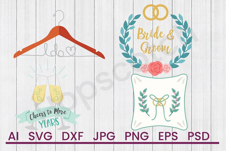 Wedding SVG Bundle, DXF File, Cuttable File