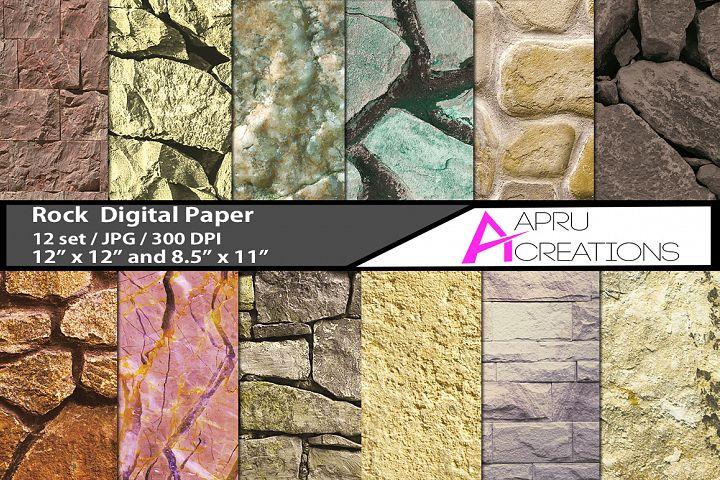 Rock stone digital papers, rock pattern, rock digital paper