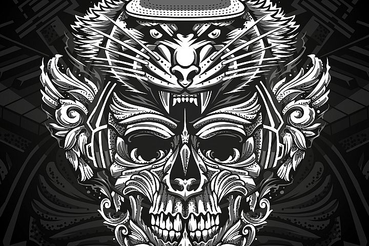 Brutal Musical Print Design | Vector