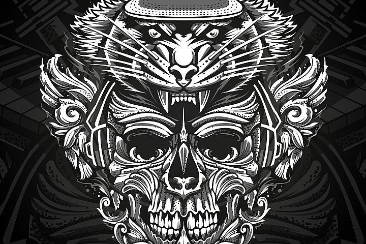 Brutal Musical Print Design | Vector