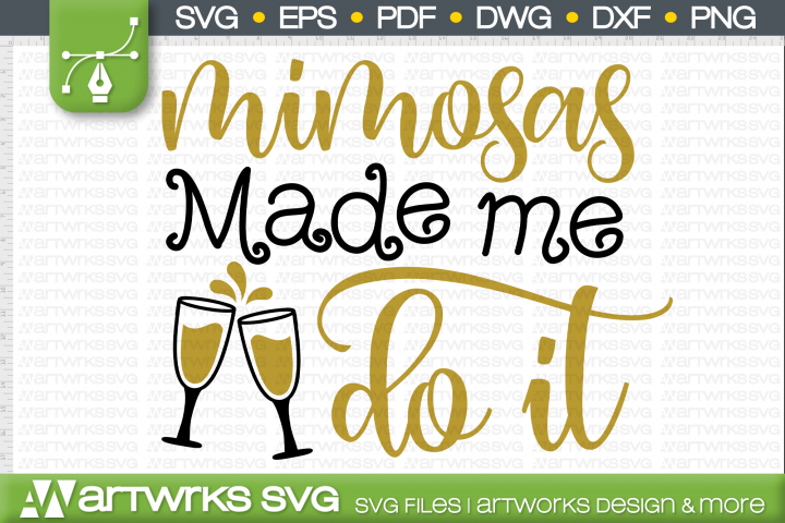Friends SVG files for Cricut | Mimosas made me do It